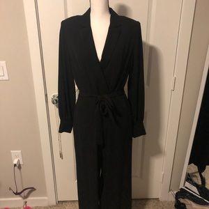 Black Tuxedo Pants Suit